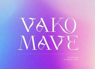 Vako Mave Serif Font