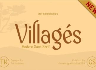Villages Sans Serif Font