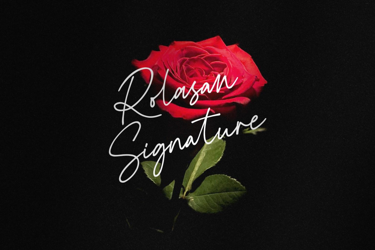 Rolasan Signature Font