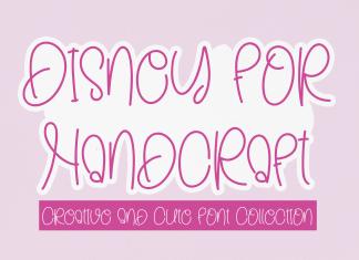 Disney For Handcraft Handwritten Font