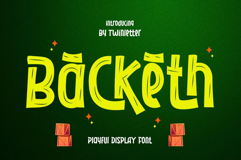 Backeth Display Font