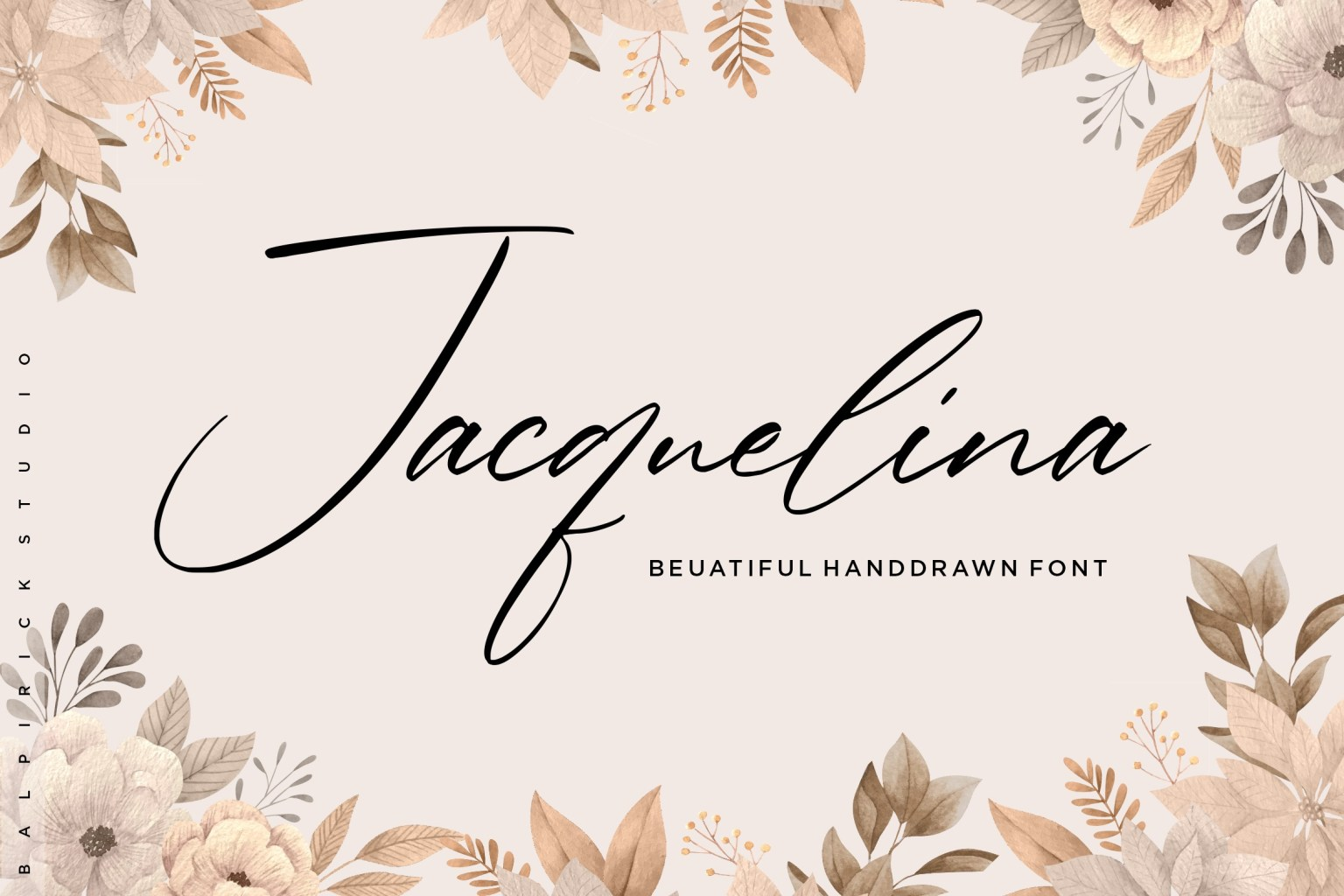 Jacquelina Handdrawn Font