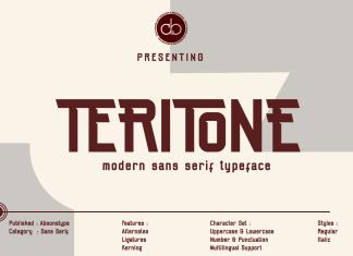 Teritone Font