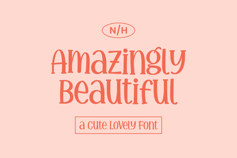 Amazingly Beautiful Display Font