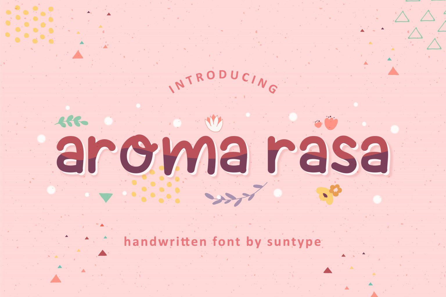 Aroma Rasa Display Font