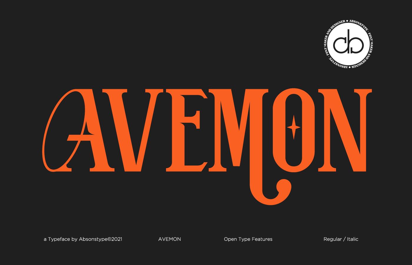 AVEMON Display Font