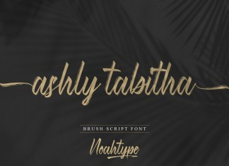 Ashly Tabitha Brush Font