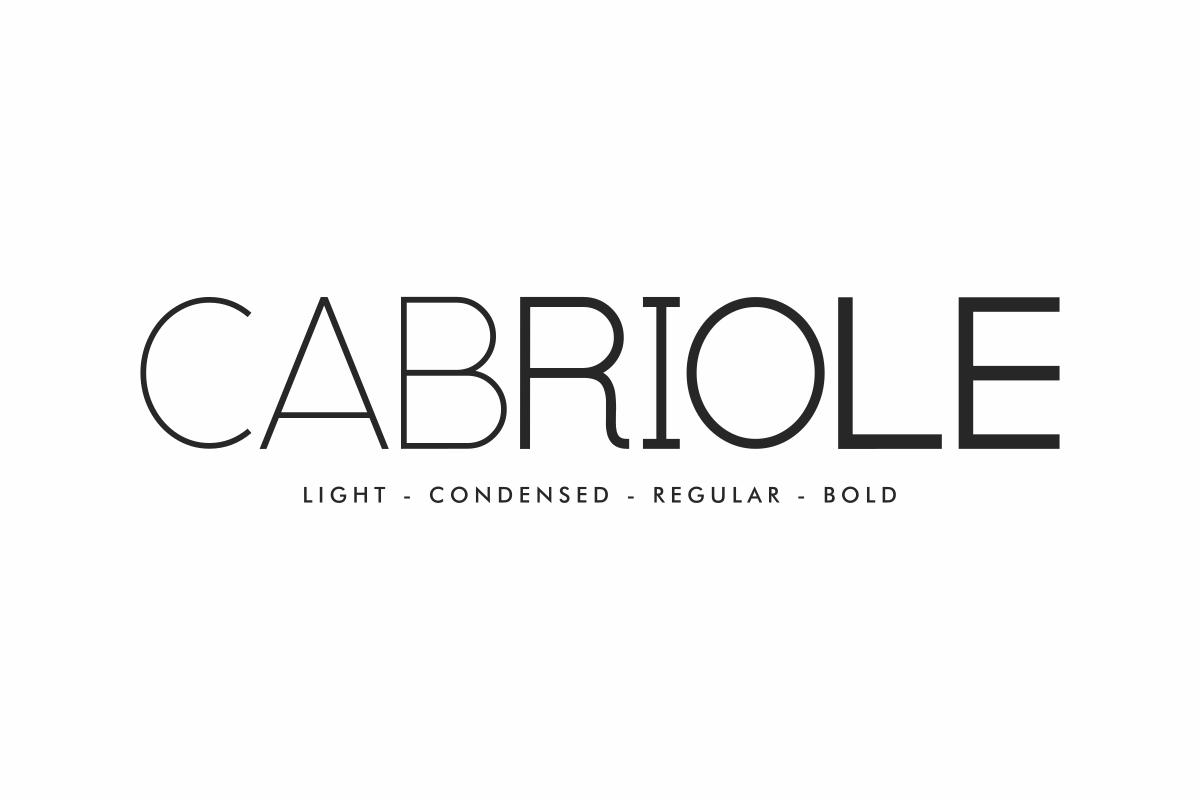 Cabriole Sans Serif Font