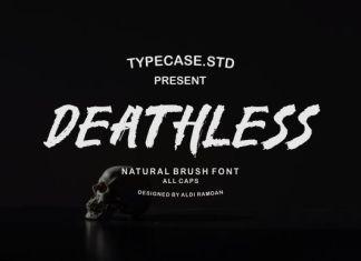 Deathless Brush Font