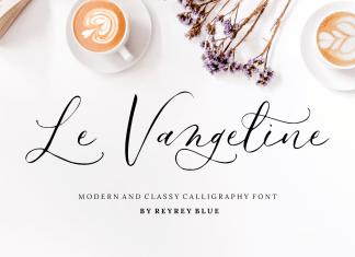 Le Vangeline Script Font
