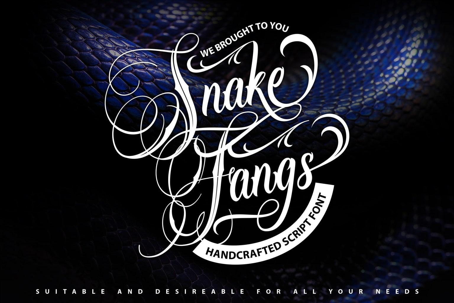Snake Fangs Script Font