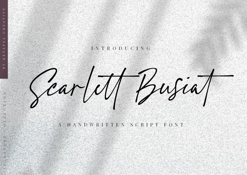 Scarlett Busiat Handwritten Font