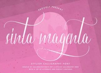Sinta Magenta Calligraphy Font