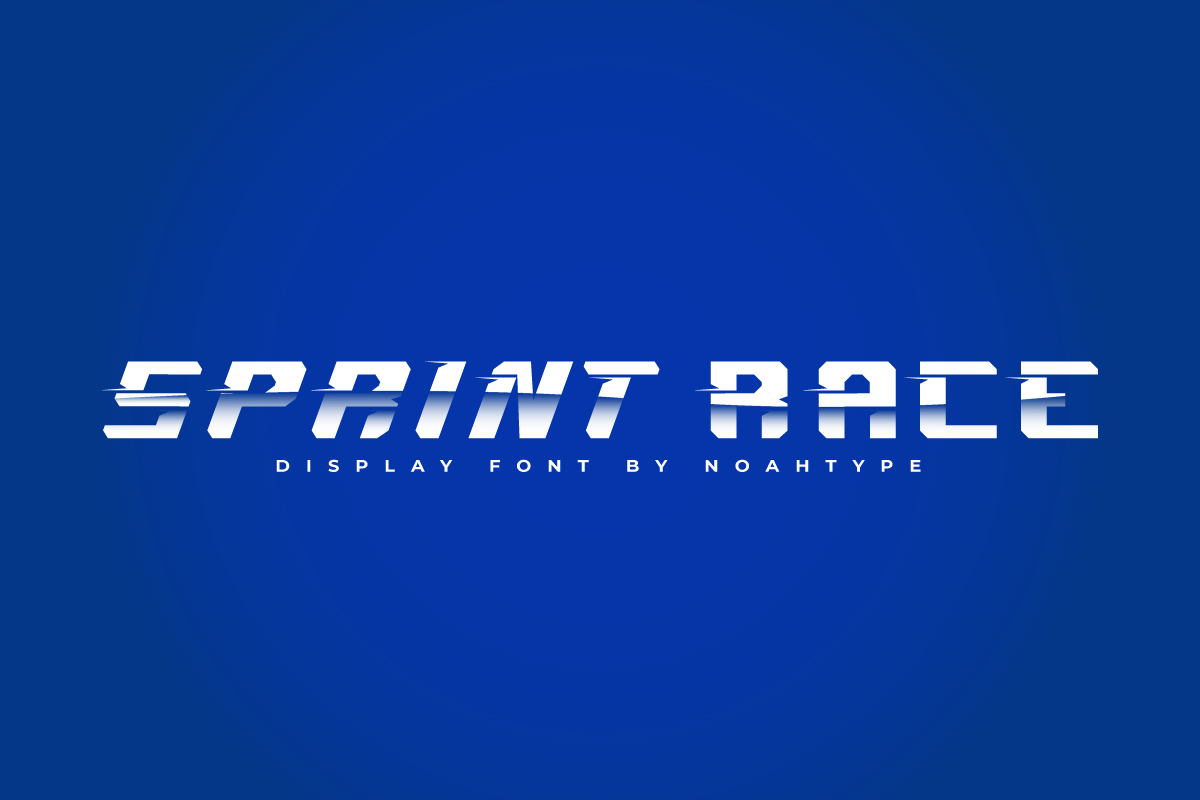Sprint Race Display Font