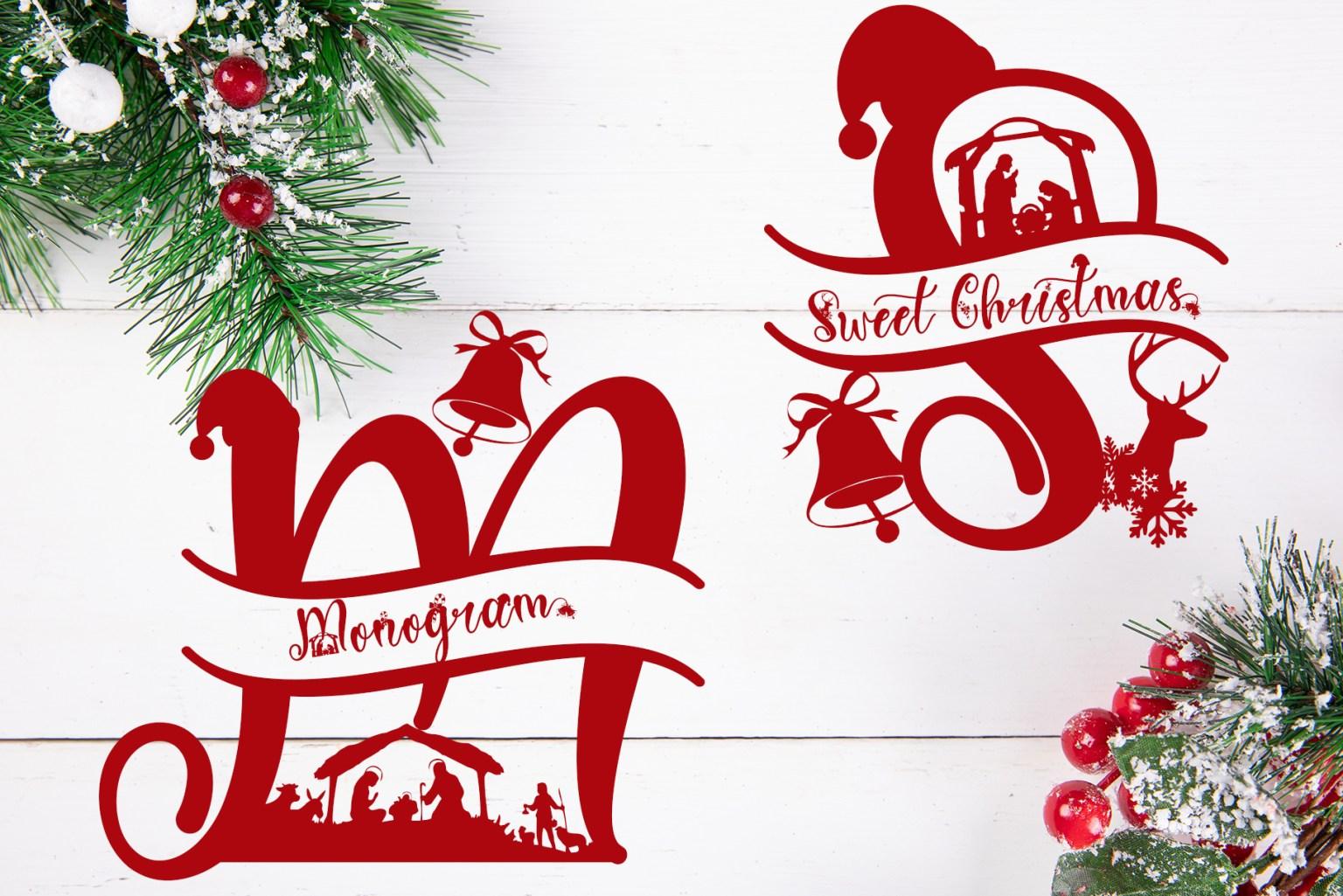 Sweet Christmas Monogram Display Font