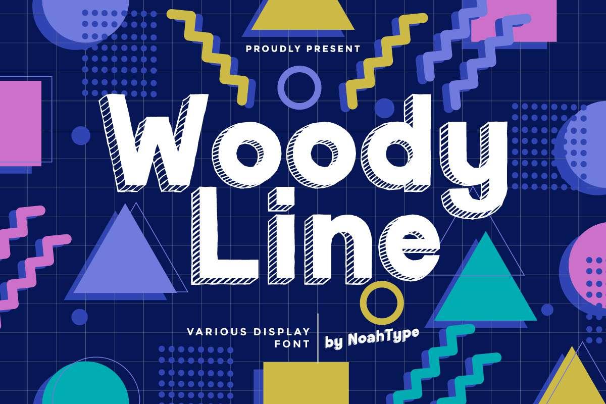 Woody Line Display Font