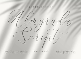 Almyrada Calligraphy Font
