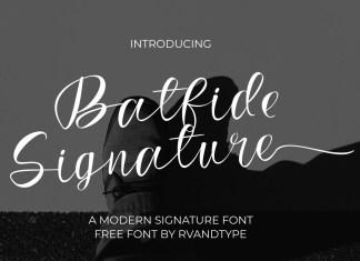 Batfide Signature Script Font