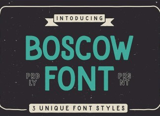 Boscow Display Font