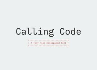 Calling Code Sans Serif Font