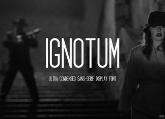 Ignotum Display Font