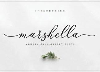 Marshella Calligraphy Font