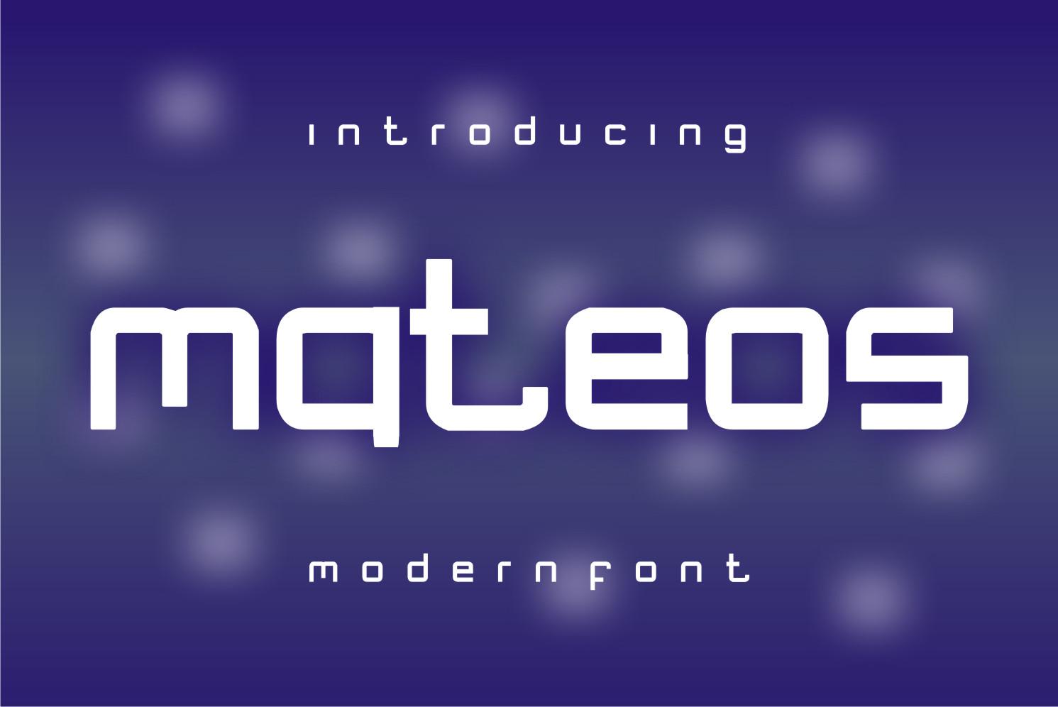 Mateos Display Font