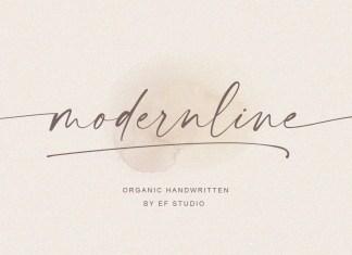 Modernline Script Font