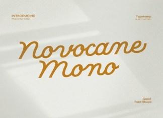Novocane Mono Script Font