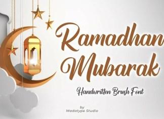 Ramadhan Mubarak Script Font