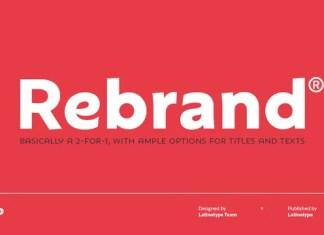 Rebrand Sans Serif Font