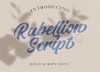 Rubellion Bold Script Font