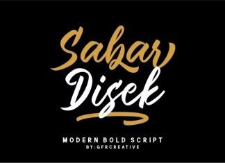 Sabar Disek Brush Font