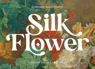 Silk Flower Serif Font