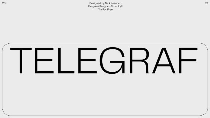 Telegraf Font