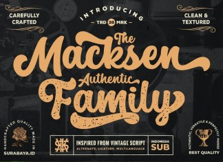 The Macksen Script Font
