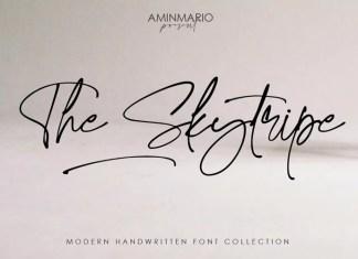 The Skytripe Handwritten Font