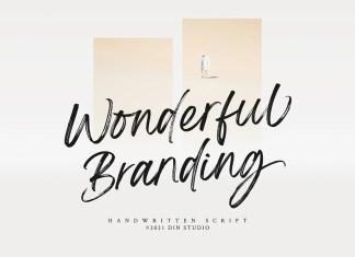 Wonderful Branding Brush Font