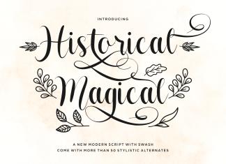 Historical Magical Script Font