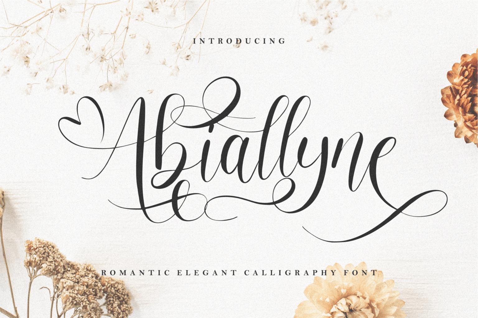 Abiallyne Script Font