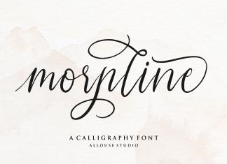 Morpline Calligraphy Font