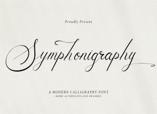 Symphonigraphy Calligraphy Font