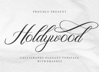 Holdywood Calligraphy Font