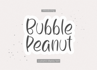Bubble Peanut Display Font