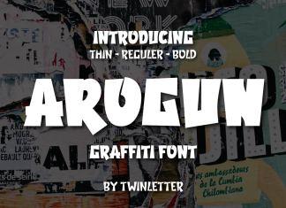 AROGUN Display Font