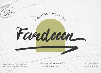Fardeeen Script font