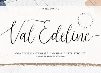 Val Edeline Calligraphy Font
