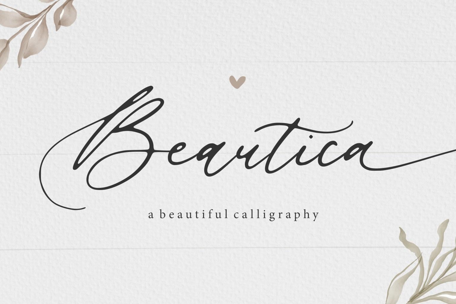 Beautica Font
