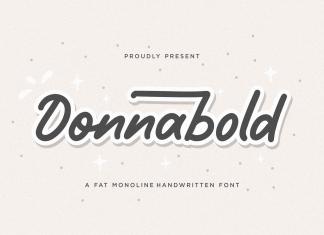 Donnabold Script Font