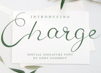 Charge Script Font